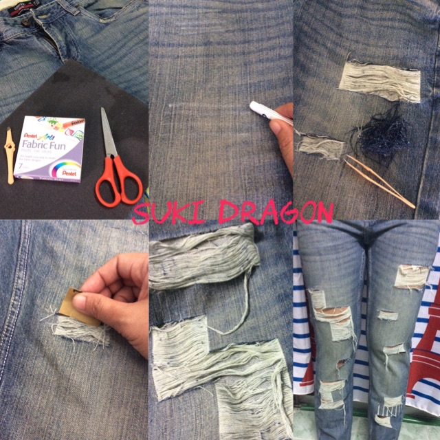 How to DIY Ripped Jean?