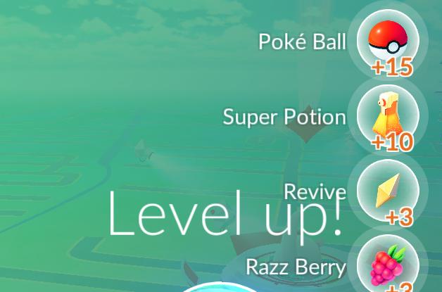 level up pokemon go